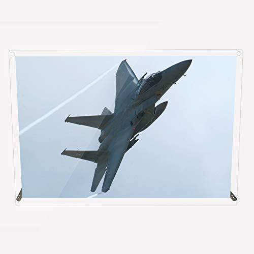 CuVery アクリル プレート 写真 航空自衛隊 戦闘機 F-15J デザイン スタンド 壁掛け 両用 約A3サイズ