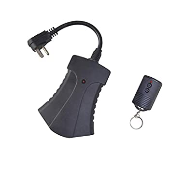 Woods 59748WD Outdoor Plug-In Switch with Wireless Remote Control 3 Grounded Outlets