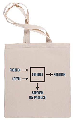 Wigoro Ingenieurwesen Sarkasmus Nebenprodukt Einkaufstasche Tote Beige Shopping Bag