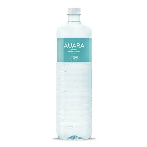 AUARA agua mineral natural sin gas 100% material reciclado r-PET - Pack 6 botellas 1501 ml