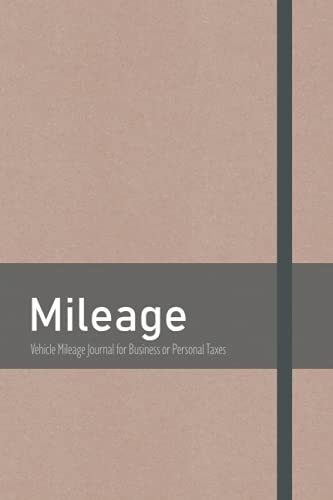 Vehicle Mileage Journal for Business or Personal Taxes: Odometer Tracker Logbook with 1870 Trips, Small, 6 X 9 In, Automotive Daily Tracking Miles Record Book, 110 pages