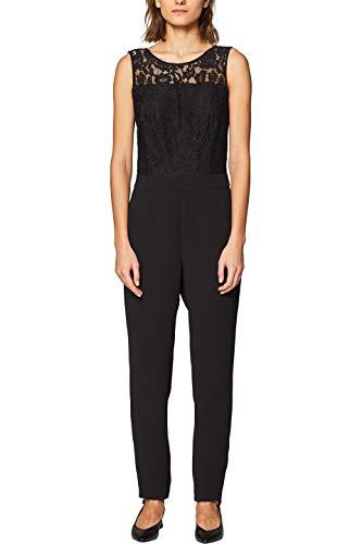 ESPRIT Collection Damen 039EO1L001 Jumpsuit, 001/BLACK, (Herstellergröße: 36)
