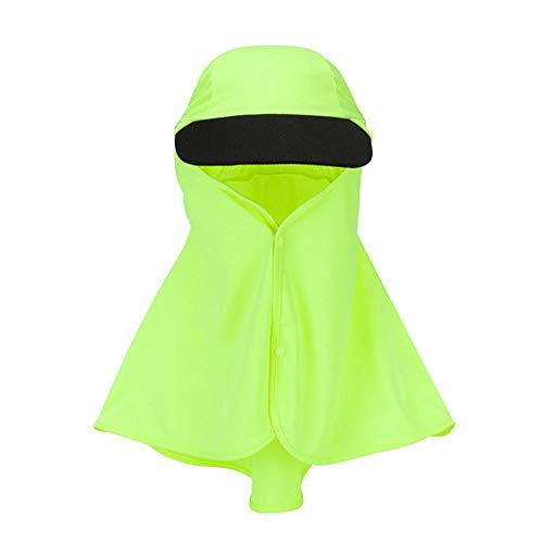 Outdoor-Angelkappe Sommer Atmungsaktive Sonnenhüte Faltbarer Anti-UV-Schutzhut Big Canopy Fashion Praktische Kappe-Grün