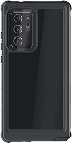 Ghostek Nautical Waterproof Case for Galaxy Note20 Ultra with Clear Screen Protector Built-In and Protects Camera Slim Protective Heavy Duty Cover for 2020 Galaxy Note 20 Ultra 5G (6.9 Inch) - (Black)