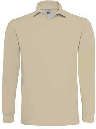 B&c - POLO HOMME MANCHES LONGUES HEAVYMILL