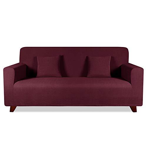 TAOCOCO Funda de sofá con Forma de Diamante/Funda de sofá Antideslizante/Funda de sofá elástica/Lavable/antiácaros/Antiarrugas (Rojo, 180_x_240_cm)