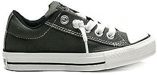 Converse Kid's Chuck Taylor All Star Street Slip Fashion Sneaker Shoe - Charcoal - Boys - 4