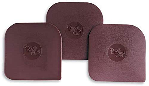 Pampered Chef Nylon Pan Scrapers Set of 3 in Brown