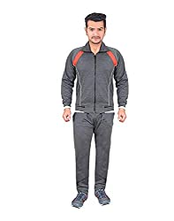 Krystle Mens Dark Grey Cotton Warm Tracksuit