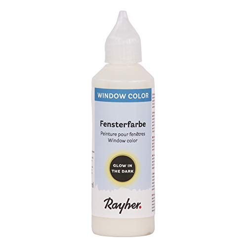 Rayher 38702000 Nachtleuchtfarbe easy paint , Flasche 80 ml