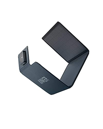 Anker PowerSolar 24W 3-Port USB Solarladegerät, Monocrystalline Panel, kompatibel mit iPhone 12 / SE / 11 / XS Max / XR / X / 8, iPad, Galaxy S20 / S10 / S9 / S8, und mehr