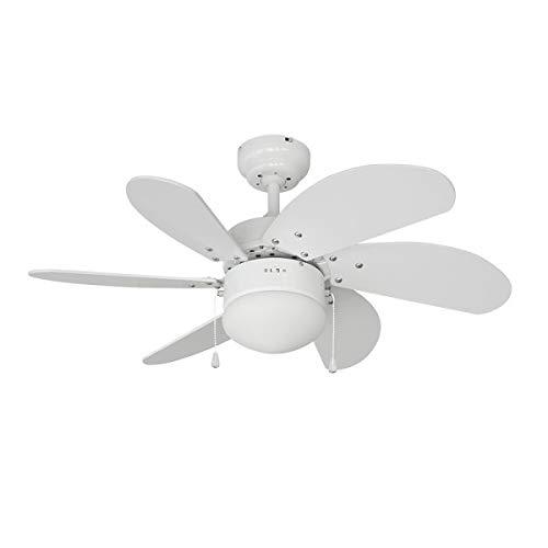 EDM 33985 Aral Ventilateur de plafond 50 W Blanc 76 cm