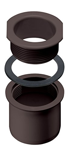 INEFA Schraubstutzen Rinne zu Fallrohr, kastenförmig Dunkelbraun DN 50 / NW 68 - eckig - aus Kunststoff für Dachrinne