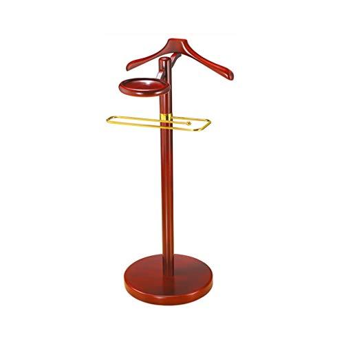 Valet Ejecutivo Soporte Perchero Trajes de Hombre de Madera sólida Base del Gancho del Metal del Dormitorio del Hotel Oficina Percha (Color : C)
