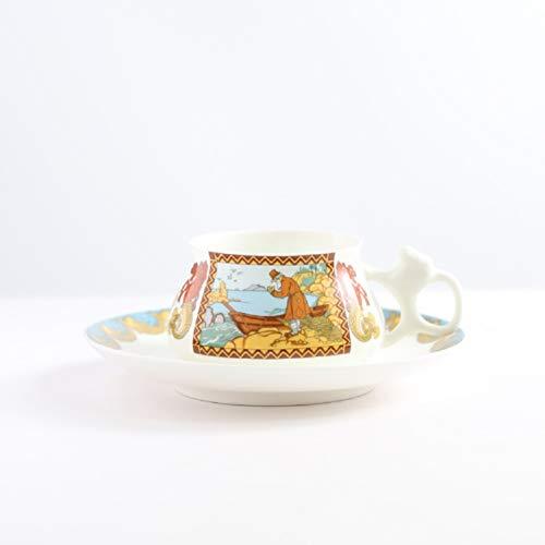 DR NF Kreative Kaffeetasse Set Royal Gold Vintage Tee Tassen Hohe Handgemalte Nachmittag Tee Hause Drink C1010