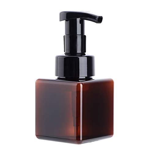 CHICTRY Seifenspender Flaschen für Bad, 250 ml Nachfüllbare Pumpflaschen für Flüssigseife Shampoo Duschgel Hotel Home Kunststoffpresse Spender Braun One Size
