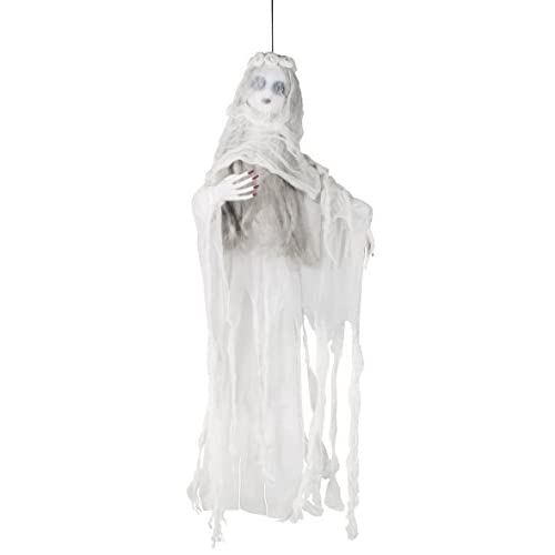 Boland- Decorazione Fantasma Velato Veiled Ghost, Bianco, 100 cm, 72087