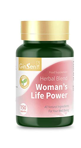 GinSen Woman's Life Power Helps Egg Quality & Quantity, FHS, AMH, Irregular Periods & Ovulation, Conceive Naturally, PCOS, Natural Fertility Supplement, Chinese Medicine, Made in UK (150 Caps)