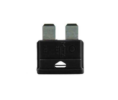 VS-ELECTRONIC - 3601371 KFZ-Flachsicherung 1A schwarz Beutel mit 5 Stück 0