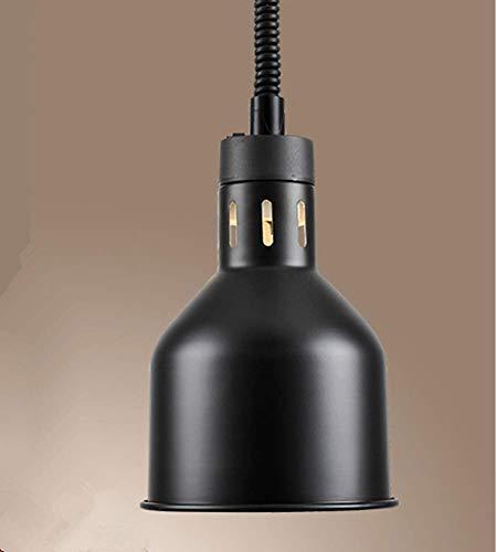 VISTANIA Lustre télescopique 17cm d'éclairage Commercial accrochant de Nourriture de Buffet de la Chaleur 250W Commercial (Ampoule Infrarouge du Cadeau 250W),Black