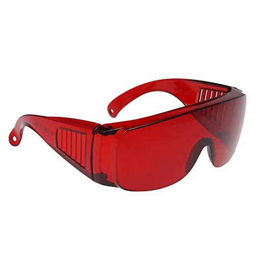 Roeam Gafas de Seguridad,Gafas Seguridad Laboratorio,Gafas Protectoras para los Ojos Gafas Rojas Gafas Protectoras Curado de Ojos Blanqueamiento UV para Dentistas