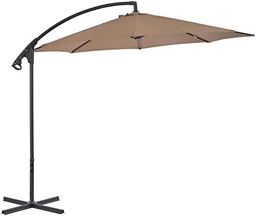 YZJL Sombrillas Parasol de protección para terraza jardín Exterior, Totalmente Impermeable y Cortavientos Parasol voladizo de Alta Gama 300cm marquesinas y toldos