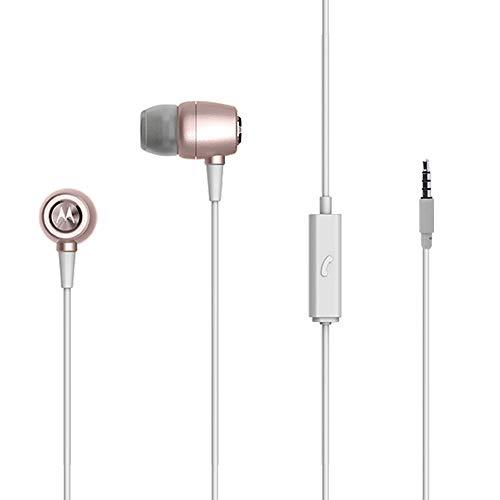 Fone de Ouvido Earbuds Metal, Motorola, SH009RG, Ouro/Rosa