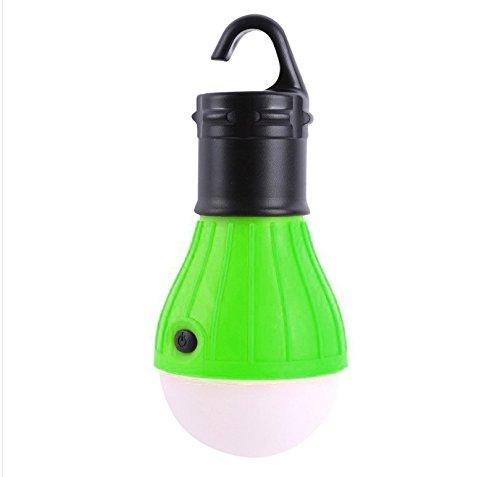 VANKER 1 Pcs Portable extérieur étanche ampoule led, urgence Lampe de lumière lanterne pour camping trekking pêche chasse Routard activités de montagne L vert