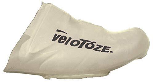 VELOTOZE–Puntera Cubre Ciclismo Resistente al Viento Resistente al Agua aerodinámicos, Blanco, Talla única