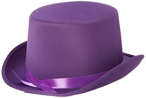 Loftus Dumb and Dumber Felt Style Top Hat - Purple Costume Top Hat