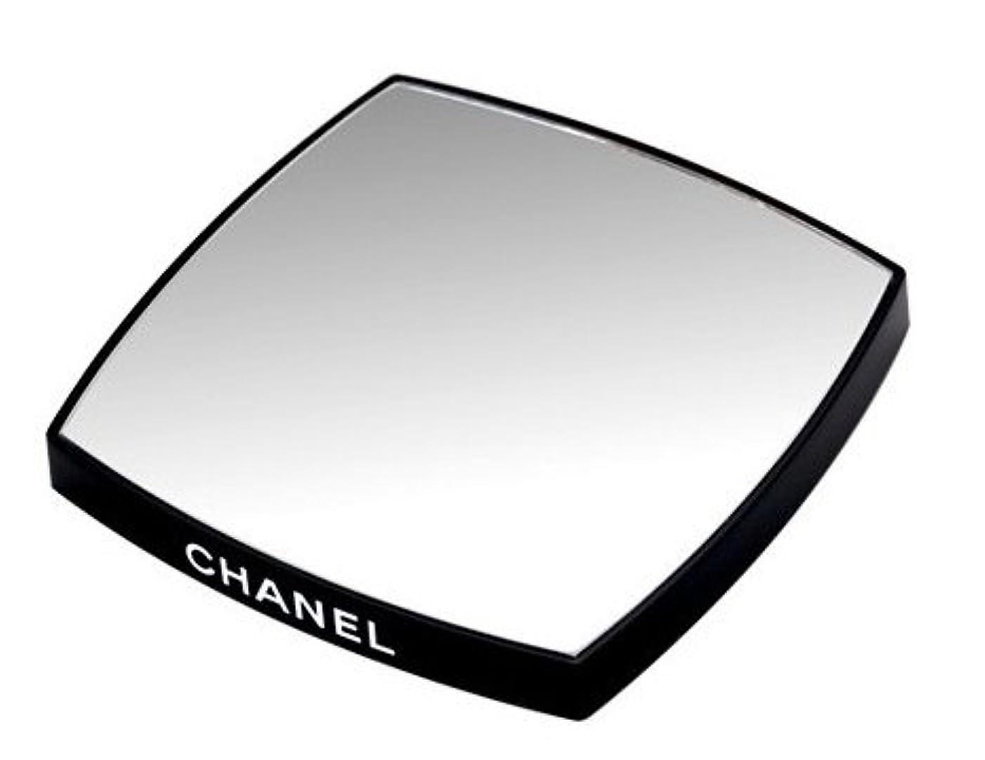 シャネル CHANEL 鏡 両面ミラー ダブルミラー ブラック ダブル(ノベルティ)
