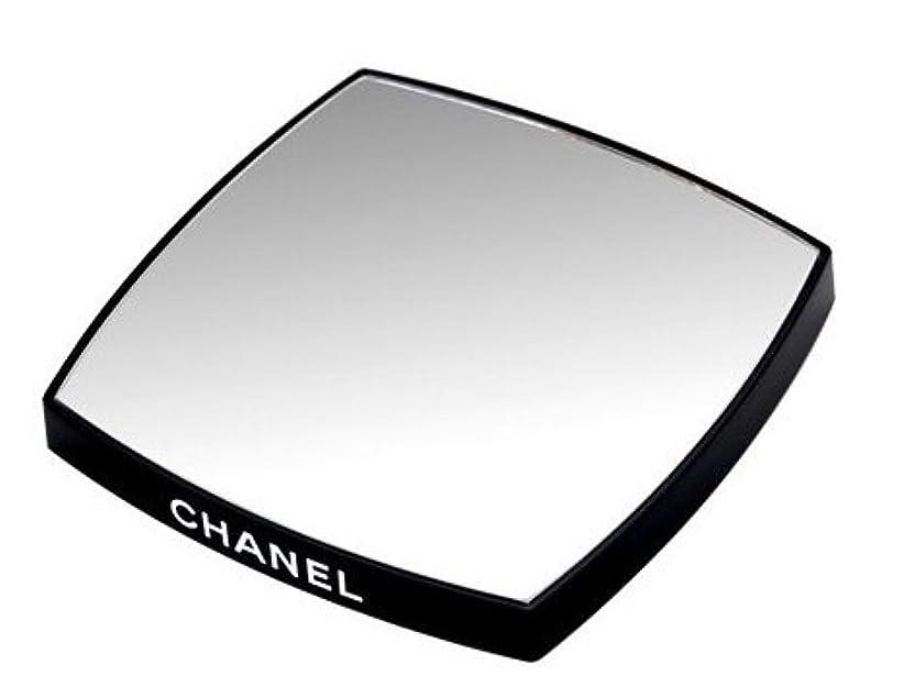 フラッシュのように素早く変形する同行するシャネル CHANEL 鏡 両面ミラー ダブルミラー ブラック ダブル(ノベルティ)