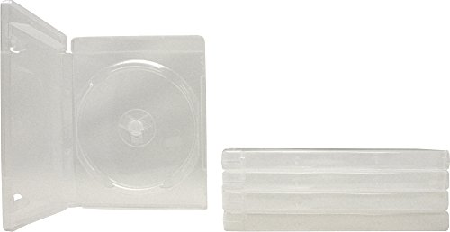 Square Deal Recordings & Supplies - (5) Empty Standard Clear 14MM Replacement Boxes - Compatible with Playstation 3 (PS3) - #VGBR14PS3CL