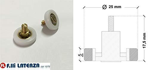 Reserveonderdelen wiellager rol voor douchecabine onderdelen Cabina 25x5/17,5h