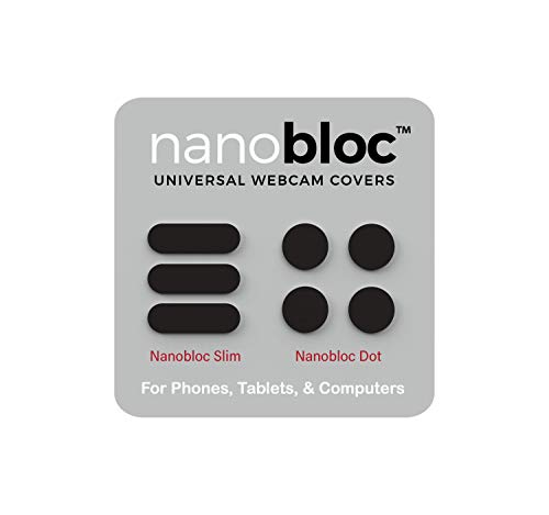Eyebloc Nanobloc Universal Webcam Covers - Privacy Protection Accessory, No Residue Application - Dots and Bars, 7 Pieces