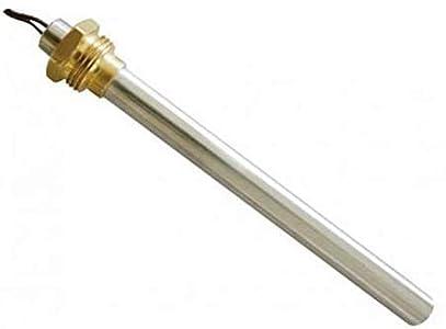 Resistencia de encendido para estufas de pellets.Características:empalme de 3/8 pulgadas; diámetro de 9,9 mm; longitud de 140 mm (total) o de 130 mm (hasta el roscado); potencia: 270 W.