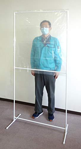 キンボシ 飛沫防止スタンド90Lごみ袋用フロワー型 白 610993