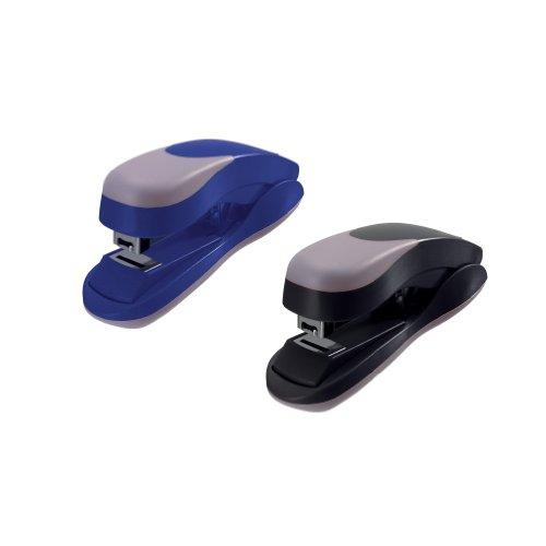 Herlitz 10780146 Heftapparat mit Heftklammern Größe 40718 Ergonomie flatclinch (Farben sortiert)