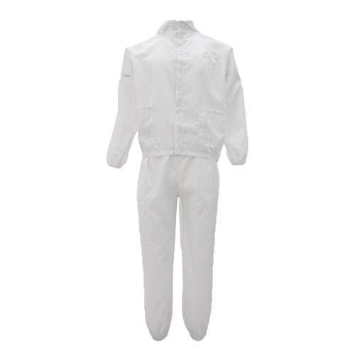 Tuta Indumenti Protettivi Antistatici Abiti Costumo Riparazione Abbigliamenti da Lavoro Verniciatura - XL Bianco