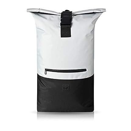 URBAN ZWEIRAD Roll-Top Mochila Hybrid 35L - Backpack Urbana para Uso Diario - Bolsa hidrófuga (Gris)