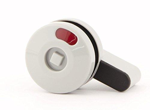 CABSAN grendel van nylon voor sanitaire cabines 10 mm of 13 mm met vouwdeur kleur grijs RAL 7038