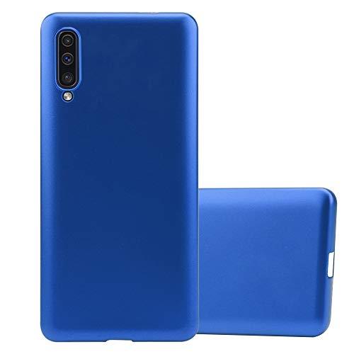 Cadorabo Custodia per Samsung Galaxy A50 in Azzurro Metallico - Morbida Cover Protettiva Sottile di Silicone TPU con Bordo Protezione - Ultra Slim Case Antiurto Gel Back Bumper Guscio