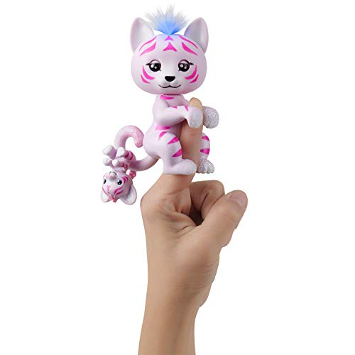 Fingerlings Light-Up Baby Tiger and Mini - Tilly and Tammy - Interactive Toy