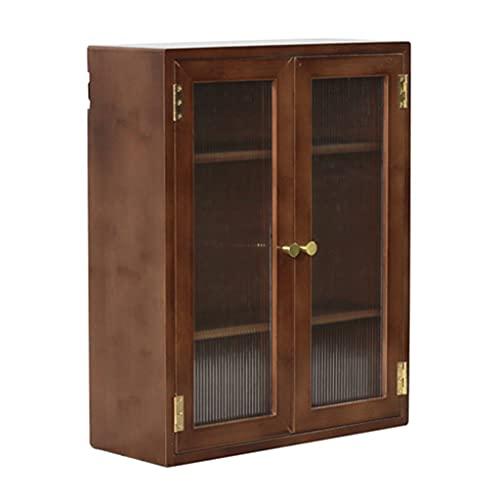 shenzuyang Gabinete De Mueble De Encimera Gabinete Pequeño Gabinete De Almacenamiento De Gabinetes con Puertas Y Estantes Cocina Cabineta De Despensa (Color : Brown, Size : 44.5 * 35.5 * 14cm)