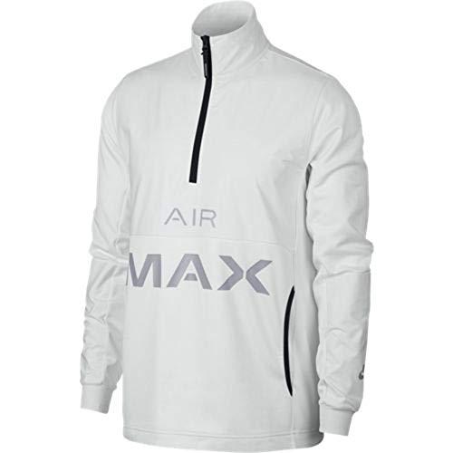 Nike Mens Sportswear Air Max Half Zip Jacket Summit White/Wolf Grey 928757-121 Size Large