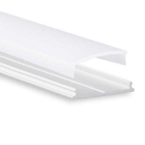 Biegsames LED Aluminium Profil P13 Atria LED Profil 2m biegbar für LED Streifen & LED Flexbänder inkl. Abdeckung Opal (milchige Abdeckung) LED Alu-Profil