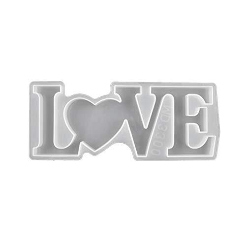 Qingxin Amor grande/hogar/familia carta resina molde de fundición silicona que hace el molde epoxi