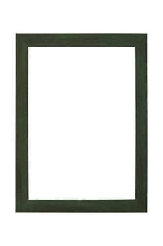 EUROLine35 cornice su misura per le immagini 69 cm x 50 cm, colore: Verde Sfocato, cornice in legno MDF realizzata su misura, completa di vetro acrilico antiriflesso e pannello posteriore in MDF, larghezza cornice: 35 mm, misure esterne: 74,8 cm x 55,8 cm
