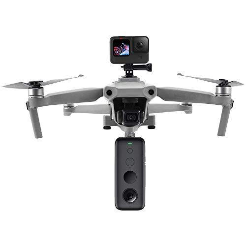 Linghuang Prolunga Staffa Multifunzione Fotocamera Supporto Fisso per DJI Mavic Air 2 / Air 2S per GoPro Hero 9/8/7/6/5 Black DJI Osmo Action Insta360 ONE Xiaoyi 4k Action Camera e Luce a LED