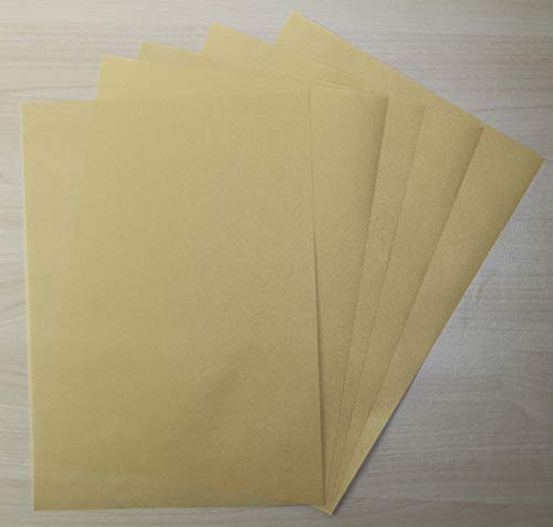 5 Blatt Transparentpapier Zanders Spectral DIN A2 (420 x 594mm) 100g/m² Farbe Gold transparent (FPA-112)